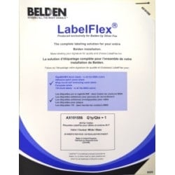 Label Pack For Cable Label, Print Area 0.98X0.78, 24 Per Sheet, 25 Sheets Per Pack