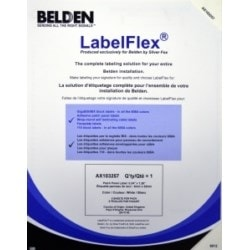 Label Pack For AngleFlex Patch Panel,White, 180 Per Sheet, 5 Sheets Per Pack