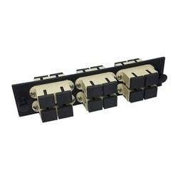 Fiber Optic Adapter Pack, Multimode, SC, Duplex, 12-port, Beige