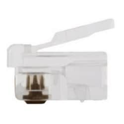 RJ11 (6P4C), ROUND-SOLID      3 PRONG  25/CLAMSHELL