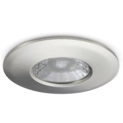 V50 Fire-rated Downlight, 7.5W, Dimmable, 3000/4000K, 600/650lm, Brushed Nickel Finish