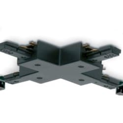 Mainline 4-way Track Connector, Mains, IP20, Black