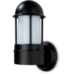 NiteLED Dome Wall Light, Mains, IP44, Plain, LED, 8.5W, 4000K, 200lm, Black