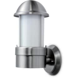 NiteLED Dome Wall Light, Mains, IP44, Plain, LED, 8.5W, 4000K, 200lm, Stainless Steel