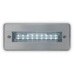 Elegenti Steplight, IP68, Recessed, Mains, 1.5W, 6000K, 90lm, LED, Stainless Steel