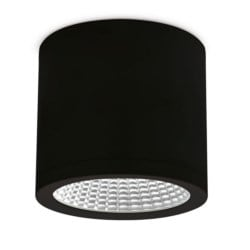 25W Surface Mounted Downlight, 3000K, IP54, 60 Beam Angle, Black, Triac Dimmable