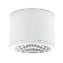 35W Surface Mounted Downlight, 3000K, IP54, 60 Beam Angle, White, Triac Dimmable