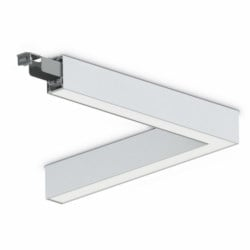 Line Of Light Light Fitting, Direct/Indirect, Corner (L), 40W, 4000k, White