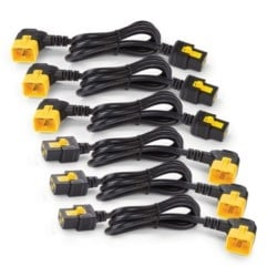 Power Cord Kit (6 ea), Locking, C19 to C20 (90 Degree), 1.8m