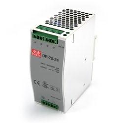 75 Watt Series / 48 VDC / 1.6 Amps Industrial Single Output DIN Rail Power Supply
