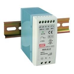 60 Watt Series / 48 VDC / 1.25 Amps Industrial Slim Single Output DIN Rail Power Supply
