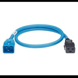 Locking Power Cord, IEC C20 To IEC C19, 3 Feet, 10 PK, Blue