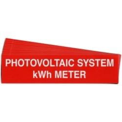 """Pre-Printed Solar Kwh Meter Warning Labels, 1""""X4"""" Vinyl, 25 Pack"""