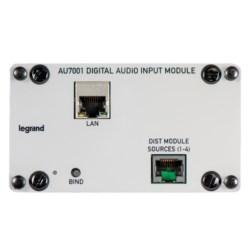"Input Module, Single-Bay, Cat 5E, RJ45 Connector, 12 Volt DC, 7.125"" Length x 4.375"" Width x 7.125"" Depth, Plastic/Metal, Gray"
