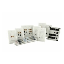 Multi-Source Audio Kit, 4-Zone, Wall Mount, 24 VDC, White, With Flush Mount Input