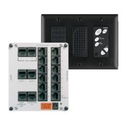 Broadcast Intercom Module and Console Unit, 12 Volt, 2.5 Ampere, 325' Length Cord, Cat 5E Cable, RJ45, Black