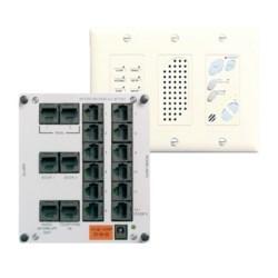 Broadcast Intercom Module and Console Unit, 12 Volt, 2.5 Ampere, 325' Length Cord, Cat 5E Cable, RJ45, Ivory