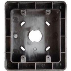 "Selective Call Intercom Back Box, Exterior Surface Mount, 4.5"" Width x 2.18"" Depth x 5.03"" Height, High Impact Flame-Retardant Plastic, Black, Smooth"
