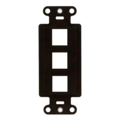 "Decorator Outlet Strap, 3-Port, Keystone Insert Plug, 1.65"" Width x 0.28"" Depth x 4.19"" Height, ABS Plastic, Brown"