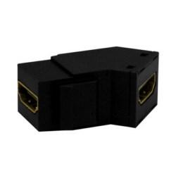 "Keystone Insert, HDMI Coupler, 1.55"" Width x 0.89"" Depth x 0.638"" Height, High Impact Plastic, Black"