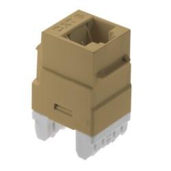 "Keystone Insert, Cat 6, RJ45, 1-Port, 4-Pair, 24 to 22 AWG Wire, T568A/B Wiring, 1.28"" Length x 0.64"" Width x 0.87"" Depth, ABS Plastic, Ivory"