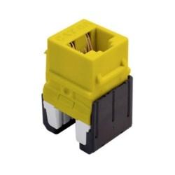 Quick Connect Cat 6a RJ45 Keystone Insert, Yellow
