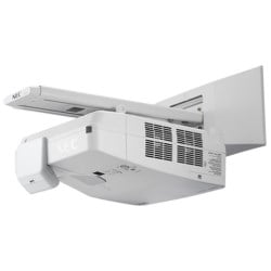 "Projector, Ultra Short Throw, WUXGA 1920 x 1200 Resolution, 3500 Lumen, 100 to 240 Volt AC, 3.8 Ampere, 337 Watt, 16.9"" Width x 4.4"" Depth x 23.3"" Height, With Wall Mount"