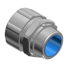 """1-1/2"""" Straight Malleable Iron Insulated Liquidtight Connector"""