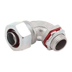 Liquidtight Conduit Fitting, 90 Degree Bend, Malleable Iron, 1-1/4 Inch