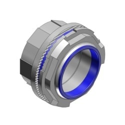 """2"""" Zinc Hub Connector with Thermoplastic Insulating Throat, Sealing Ring Nitrile (BUNA-N) for Use with Rigid/IMC Conduit"""