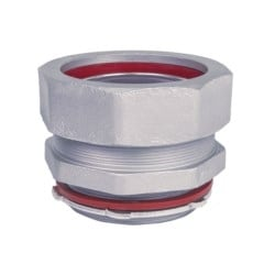 """Liquidtight Conduit Fitting, Straight, Insulated, Trade Size 4"""", Malleable Iron"""