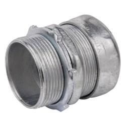 "Compression Connector, Concrete Tight, Conduit Size 1-1/2"", Material Steel, for EMT Conduit"