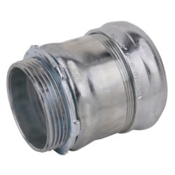 Compression Connector, Concrete Tight, Conduit Size 2-1/2 Inches, Material Steel, For use with EMT Conduit