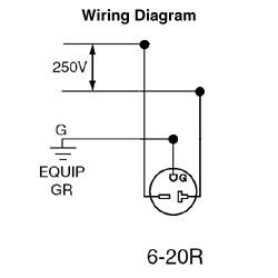 [DIAGRAM_09CH]  5821-I - LEVITON - 20 Amp, 250 Volt, NEMA | Anixter | 250 Volt Schematic Wiring |  | Anixter