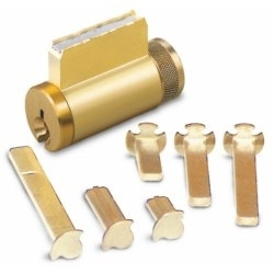 Cylinder Lock, Key-In-Knob, 6-Pin, Corbin 77 Keyway, 0-Bitted, Satin Chrome Plated, For Combination Knob/Deadbolt