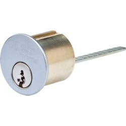 Rim Lock Cylinder, Peaks Preferred, Standard, 6-Pin, Combinated, PS Keyway, Oil Rubbed Bronze, For Sargent Rim