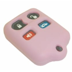 Vehicle Remote Key Fob Cover, Remote Keyless Entry, 4-Button, Pink, For Ford/Lincoln/Mercury