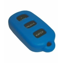 Vehicle Remote Key Fob Cover, Remote Keyless Entry, 3-Button, Blue, For Toyota/Lexus/Pontiac