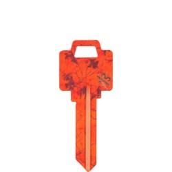 Decorative Key Blank, Realtree, Weiser, Blaze Orange Design, Individually Carded, WR Keyway