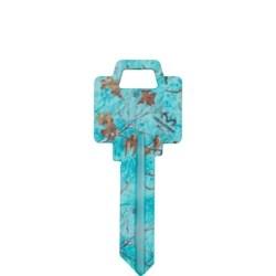 Decorative Key Blank, Realtree, Weiser, Sea Glass Design, WR Keyway
