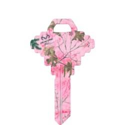 Decorative Key Blank, Realtree, Schlage/Baldwin, Paradise Pink Design, SC1 Keyway