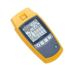 MicroScanner PoE Verifier with MS-POE Wiremap adapter, multi-language getting started guide, batteries and Fluke Networks carry pouch