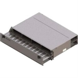 FiberExpress Ultra HD Patch Panel Housing 2U, Removeable Front and Rear Tray, Empty, Titanium