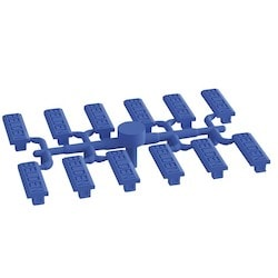 "Modular Connector Icon Kit, 11.4"" Width x 1.1"" x Depth x 4.1"" Height, Plastic, Blue, -10 to 60 Deg C"