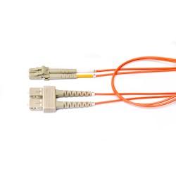 FiberExpress Patch Cord, OM1, LC Duplex to SC Duplex, 8m