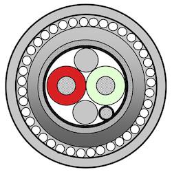 18-2C SOLID BC FPE LSNH FOIL  TC BRAID SCR LSNH/SWA/LSNH BLUJKT 600V PROFIBUS PA