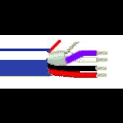 22-1P STR BC FOIL SHD + 18-2C STR BC PVC JKT BLU/WHT        75C 300V CL3