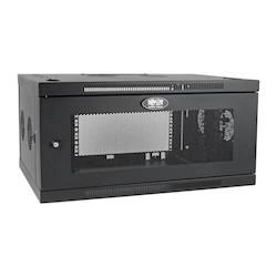 SmartRack 6U Low-Profile Switch-Depth-Plus Wall-Mount Rack Enclosure Cabinet, Wide, Acrylic Window