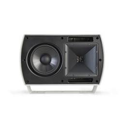 """Loudspeaker, 2-Way, Commercial All-Weather, Full-Range, 8 Ohm, 95 dB, 300 Watt, 69 Hertz to 20 Kilohertz, 6.5"""" Woofer, 15.2"""" Width x 10.9"""" Depth x 9.5"""" Height, White"""