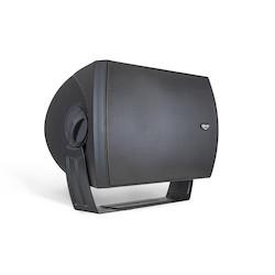 """Loudspeaker, 2-Way, Commercial All-Weather, Full-Range, 8 Ohm, 96 dB, 400 Watt, 64 Hertz to 17.5 Kilohertz, 8"""" Woofer, 16.38"""" Width x 12.31"""" Depth x 11.3"""" Height, Black"""